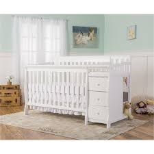 White Convertable Crib On Me 5 In 1 Brody White Convertible Crib With Changer