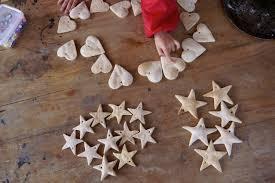 making salt dough christmas decorations milkwood permaculture