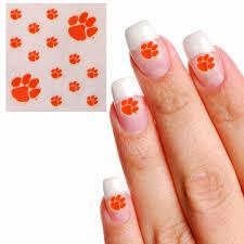 clemson tigers waterless fingernail tattoos clemson