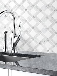 White Glass Backsplash by White Marble Glass Modern Mosaic Backsplash Tile Backsplash Com