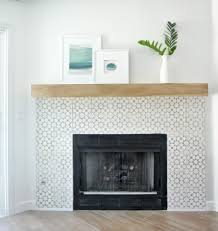 cement tile surround fireplace makeover home sweet home