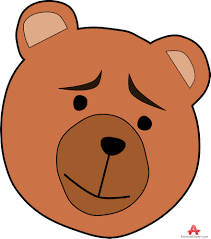 bear face clipart clipart for work