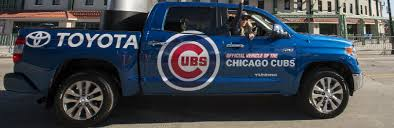 toyota tundra chicago toyota tundra featured during chicago cubs victory parade