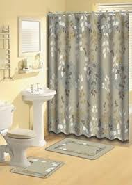Taupe Bathroom Rugs Oakland Coffee 18 Bathroom Set 2 Rugs Mats 1 Fabric Shower