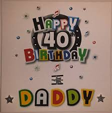 happy birthday card daddy funky 40th birthday handmade card