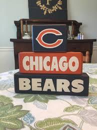 chicago bears football wood blocks u2022 apple jack designs