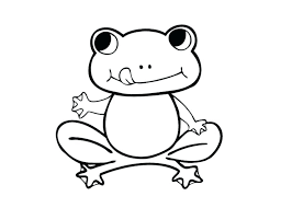 free printable cartoon frog pictures coloring pages preschoolers