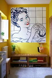 decorations modern interior house featuring bathroom pop mural modern interior house featuring bathroom pop mural interior wall art design and yellow colored