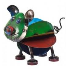 think outside animal ornaments recycled metal animals metal