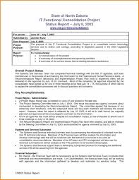 Project Status Report Email Template Tour Manager Cover Letter