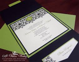 green wedding invitations lime green and brown invitations black and green wedding