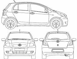 width of toyota yaris the blueprints com blueprints cars toyota toyota yaris 5