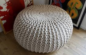 Ottoman Knitted Ottomans Light Pink Ottoman How To Knit A Pouf For Beginners