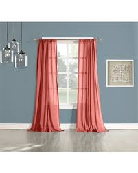 Coral Sheer Curtains Spectacular Deal On No 918 Open Weave Cotton Sheer Curtain