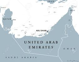 Map Of Abu Dhabi United Arab Emirates Political Map With Capital Abu Dhabi Uae