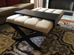 Table With Ottoman Underneath by Black Round Ottoman Tags Mesmerizing Ottoman Coffee Table
