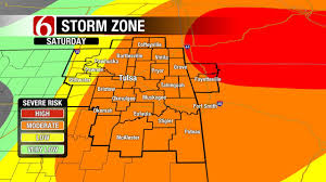 Tulsa Map Showers Storms Possible Across Eastern Oklahoma Newson6 Com