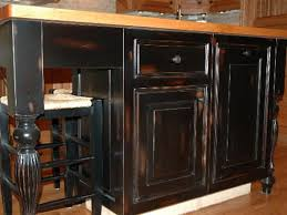 Diy Black Kitchen Cabinets Picturesque Kitchen How To Paint Cabinets Black Distressed