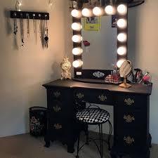 black vanity set with lights beauty of makeup vanity table with lights makeupjournal com