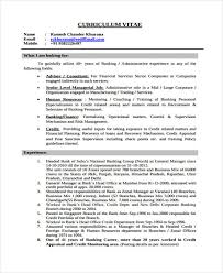 Banking Job Resume by Basic Banking Resumes 38 Free Word Pdf Documents Download