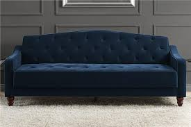 Black Tufted Sofa by Dhp Furniture Novogratz Vintage Tufted Sofa Sleeper