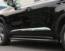 toyota highlander 2015 high quality abs chrome scratch side door body molding trim 4pcs