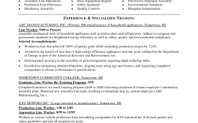 ideas collection 20 production line worker resume samples