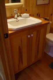 pine bathroom cabinets with doug fir countertops u2014 blue hill