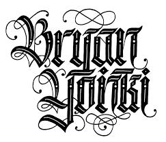 bryanyonki com custom lettering