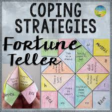 coping strategies fortune teller craft by pathway 2 success tpt