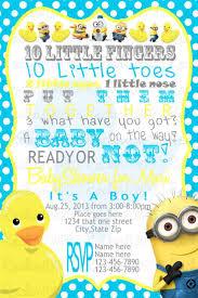 minion baby shower invitations iidaemilia com