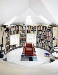 home attic library design interior ideas awesome home library