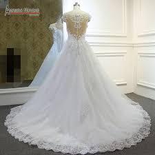 aliexpress com buy stunning beaded top a line wedding dress