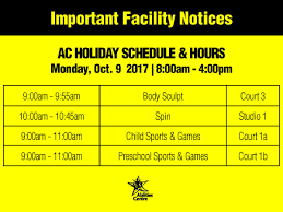 abilities centre on we are open thanksgiving monday