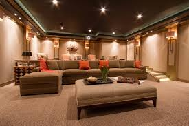 home theater couch home theater contemporary with family room home