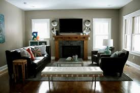 how to arrange living room furniture with fireplace and tv 4