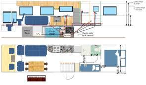 Motorhome Floor Plans Floor Plan Moblie Home Pinterest Bus Conversion Camper