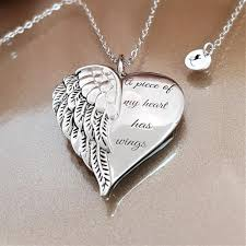 silver pendant heart necklace images Whisper in my heart angel necklace linda 39 s stars jpg