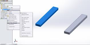 how to assign material to different bodies in solidworks