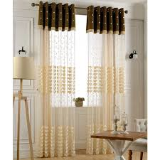 embossed and embroidery flora pattern luxury living room sheer curtain