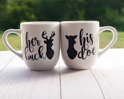 his and mug buck his doe etsy