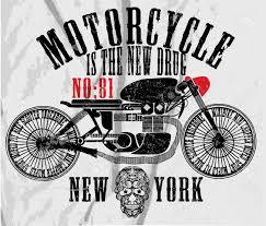 vintage race main de moto t shirt de dessin impression clip art