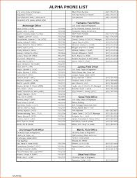 Office Inventory List Template by 10 Phone List Template Job Resumes Word