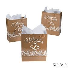 welcome to our wedding bags gold two hearts welcome to our wedding gift bags with tags