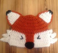 crochet baby hat fox hat baby fox hat newborn photo prop