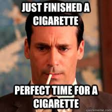 Cigarette Memes - don draper enjoys his luckies funny pictures gifs pinterest