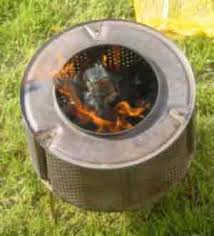 Making Fire Pit From Washer Tub - redneck fire pit