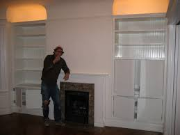 home decor amazing built in shelves around fireplace decorate