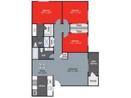 Sycamore Floor Plan Barham Villas Apartment Homes 570 East Barham Drive San Marcos
