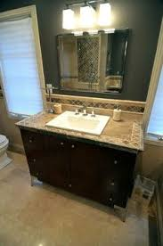 Tile Bathroom Countertop Ideas Colors Travertine Vanity Top Diy Pinthedream I Love The Old Look Sing